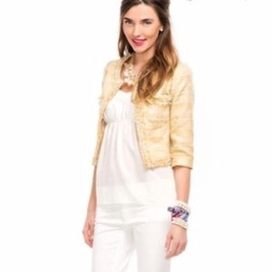 Lilly Pulitzer almond and gold Hagen jacket